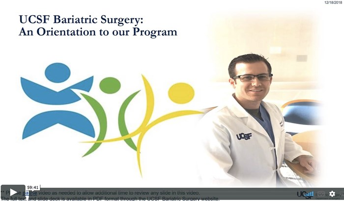 Bariatric Surgery Orientation Video